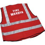 Fire Warden Hi-Vis Red Large
