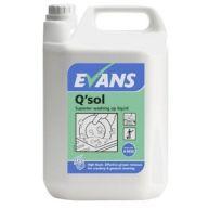 Evans Q-Sol Superior Washing Up Liquid (1 x 5 Litre)