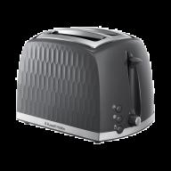 Russell Hobbs Honeycomb 2 Slice Toaster Grey