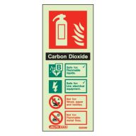 Fire Extinguisher CO2 Glow In The Dark Sign
