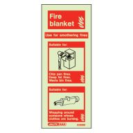 Fire Blanket Glow In The Dark Sign