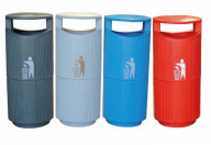 Outdoor Hooded Polyethylene Bin 94 Litre (Various Colours)