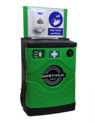 SafetyHub Portable Freestanding Hand Sanitiser Station with Cabinet