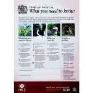A2 New Health and Safety Law Poster 60 x 42 cms