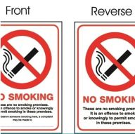 Vehicle No Smoking Sign- Double Sided