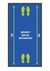 Respect Social Distancing Runner Mats 85 x