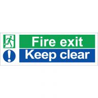 Fire Exit Keep Clear Sign Rigid