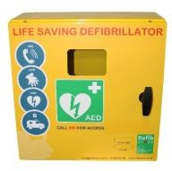 Outdoor Defibrillator Cabinet Stainless Steel Unlocked 1000 Series