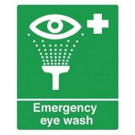 Self Adhesive Emergency Eye Wash Sign