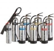 Stainless Steel Fire Extinguishers Water, Foam, Powder Chemical & CO²
