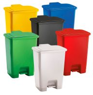 Trojan 60 Litre Plastic Step Pedal Bins (Various Colours)