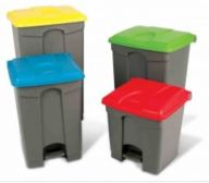 Step On Container Pedal Bin 45 Litre Grey/Yellow