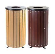 Trojan 40 Litre Open Top Wood Effect Outdoor Bin with Liner