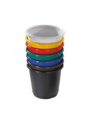 Trojan 18 Litre Colourful Rainbow Wastebaskets (Pack of 4)