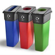 Trojan 55L Slim Look Recycling Bins IML Finish (Various Colours)