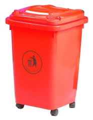 50 Litre Wheelie Bin Red