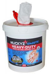 tub of 400 Muckyz Heavy Duty Smooth Degreaser Antibacterial Wipes