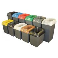 30L or 50L Plastic Recycling Bins (Various Segregation Types)