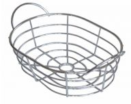 Chromed Wire Baskets Large Oval