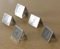 Stainless Steel Tent Table Numbers (1-10)