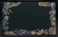 'Food' Printed Effect Display Board 762 x 1220mm