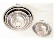 "Stainless Steel Mixing Bowls (9.5"") 24 cm (Pack of 5)"