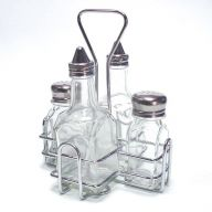 Oil & Vingear with Salt & Pepper Cruet Deluxe Set