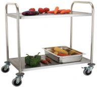 2 Tier Stainless Steel Service Trolley