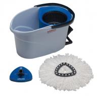Vileda UltraSpin Mini Microfibre Mop Starter Kit - Blue