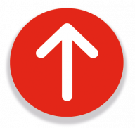 Circular Arrows Sign Red 200mm