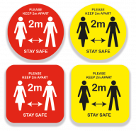 Keep 2m Apart Stay Safe Sign All Sizes and Colours