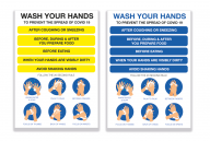 Hand Washing Vinyl Poster All Colour and Sizes