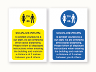 Social Distancing Vinyl Poster All Colours and Sizes