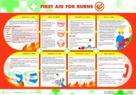 First Aid for Burns Poster (420 x 590mm)
