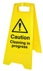 Cleaning in Progress Caution Sign