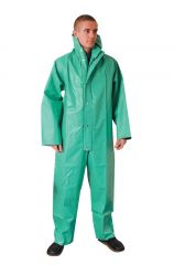 Green Chemical Resistant PVC Boilersuit Various Sizes