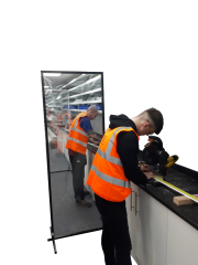 Protective Freestanding Panel Screens 762mm x 2050mm