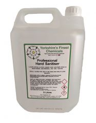 Yorkshire's Finest 5L Professional Hand Sanitiser with 5 FREE Masks