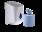 Centrefeed Roll Starter Pack - Including Dispenser & 6 x Blue Rolls