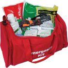 Emergency Trauma Kit in Red Emergency Bag