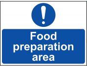 Food Preparation Area Sign  - Vinyl 20 x 15cm