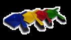 Dustpan & Soft Brush Set Four Colours