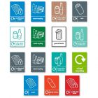 Recycling Labels for the Slim Bin Recycling Bins