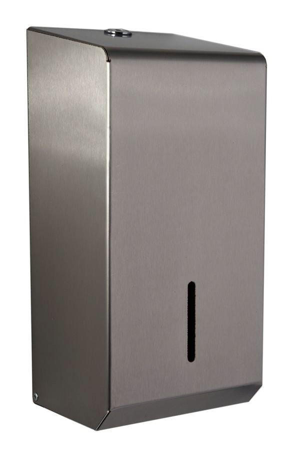 Synergise Multiflat Toilet Tissue Dispenser in Brushed