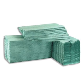 Pristine C-Fold Green Paper Hand Towels 1 Ply (Case of 16)