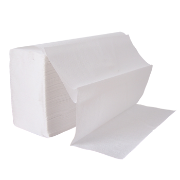 Z-Fold White Hand Paper Towels 2 Ply (Case of 15)