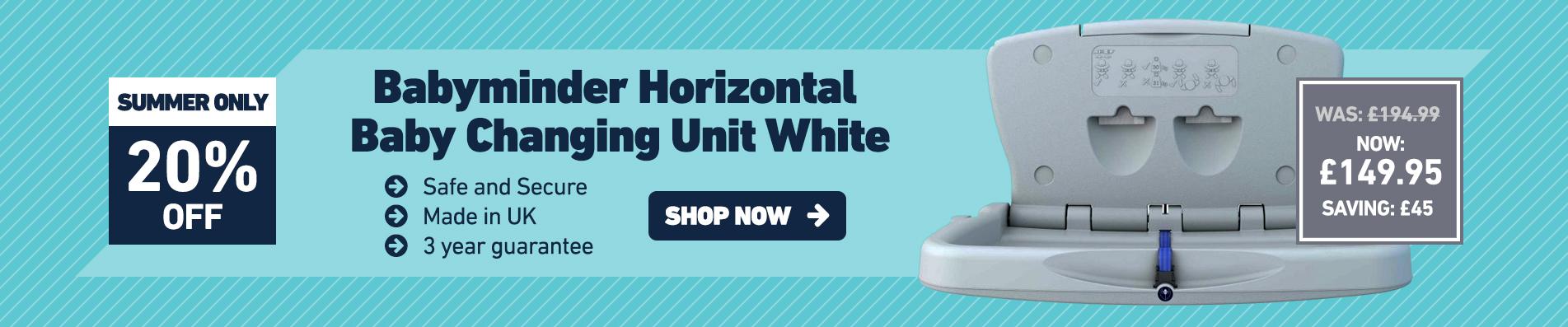 Babyminder Horizontal Baby Changing Unit White - NOW: £149.95