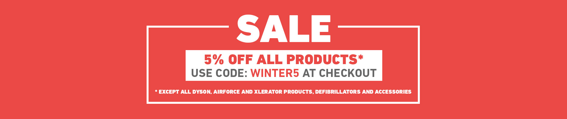 SALE - 5% off all products