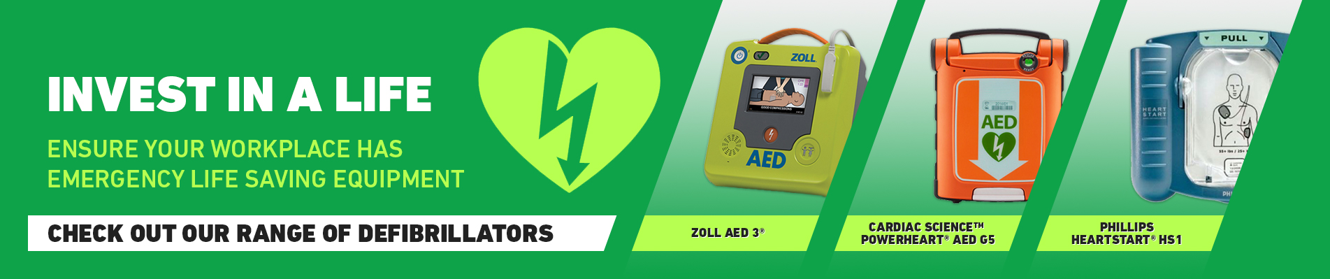Invest in a life -Ensure your workplace has emergency life saving equipment