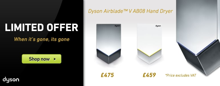 Limited Offer: Dyson Airblade V AB08 Hand Dryer